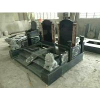 承接各种清明节墓碑 墓群 青石家族墓 殡葬用品批发石材雕刻制作