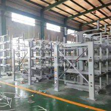 山西长管材存放架 伸缩悬臂式货架特点 钢管货架类型