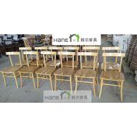 韩尔简约品牌 供应上海西餐厅椅子咖啡厅(实木椅子)定制厂家