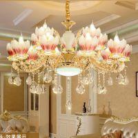 欧式吊灯客厅金色水晶灯现代简约餐厅吊灯美式创意led吊灯