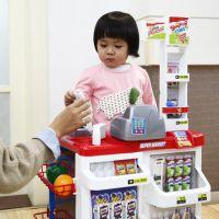 小孩儿童女童超市收银机北美玩具过家家卖东西的小推车收银台购物