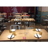 特做旧工业风脸谱重庆老火锅餐桌椅主题火锅店实木条凳 现代中式