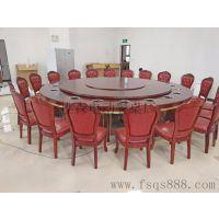 樵森厂家专业设计安装电动餐桌 手工雕花电动桌 实木餐桌椅
