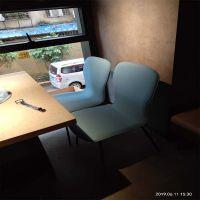 倍斯特简约时尚金属软包椅创意中式烤肉时尚咖啡厅厂家定制