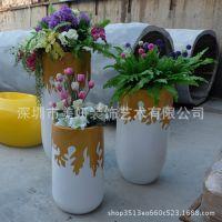 创意玻璃钢花盆组合商场美陈落地花器售楼处园林景观 美妍工艺
