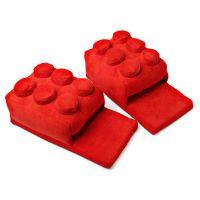 Building Brick Slippers 创意lego积木造型保暖拖鞋家居冬天棉拖