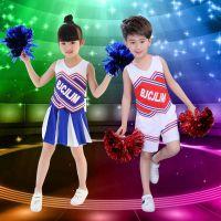新款足球宝贝啦啦队服装演出服啦啦操服性感成人健美操表演服装女