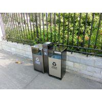 户外不锈钢垃圾桶 室外别墅庭院花园景观圆形欧式单桶垃圾箱 果皮箱