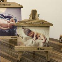 厂家批发 木质相框创意小画架7寸10寸婚纱摄影儿童相框 定做logo