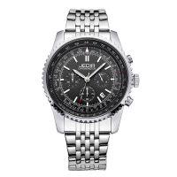 手表男士不锈钢休闲韩版 品牌正品高档防水石英手表 夜光电子表