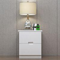简约现代床头柜简易储物柜迷你收纳柜卧室小柜子白色柜子