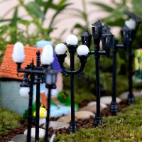 苔藓微景观现代风路灯模型手工DIY材料多肉植物迷你植物艺术摆件