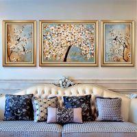 现代简约客厅挂画唯美海景三联画沙发背景墙壁画风景装饰画