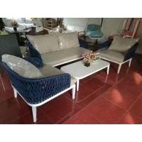 户外沙发 创意庭院花园休闲藤沙发 步行街店面酒店咖啡厅藤椅沙发TY004