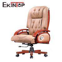 老板椅大班椅可躺升降牛皮带木扶手办公椅子真皮电脑椅家用 6076
