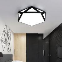 灯具 卧室灯 简约现代温馨浪漫创意个性钻石镂空led卧室吸顶灯饰