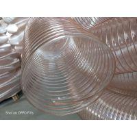卫生级pu钢丝软管(耐腐蚀通风吸尘管)荆州工业通风软管(耐高温除尘波纹管)鹏跃塑胶