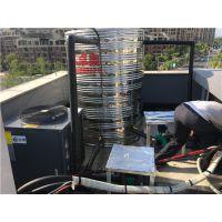 浙江德清美容院2吨太阳能加3匹空气能热水系统工程