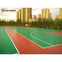 湘乡市社区塑胶篮球场地面材料厂家 学校常用篮球场材料厚度是多少