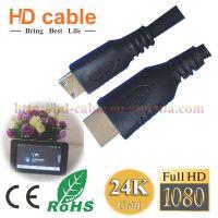 HDMI线 MINI HDMI高清线 迷你HDMI Am TO CM 30AWG hdmi线 0.6米