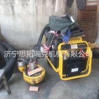 嘉兴市政渣浆泵ST08排污泵每小时排水200加仑大流量扬程25米微型便携式液压污水泵站