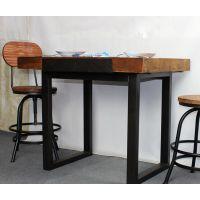 森美源定制美式loft工业风格复古怀旧铁艺个性创意餐厅桌子桌椅组合咖啡桌