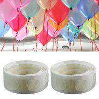 圆形可移胶点 婚房布置装饰气球透明无痕圆点点胶可移双面胶100粒