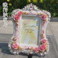 厦门小商品小额混批日韩田园玫瑰树脂欧式相框相架像框婚纱礼品