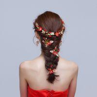 花仙森系比赛回门秀珠花新娘头饰套公主风服大方造型手工舞台发型