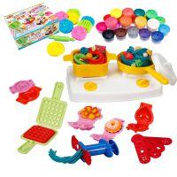 儿童橡皮泥无毒3d彩泥模具工具套装粘土手工制作厨房游戏玩具女孩