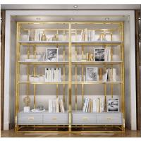 港式不锈钢书架、简约现代书房展示架