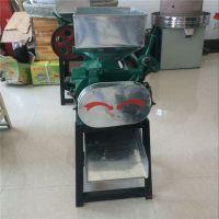 乾宇机械麦仁制作机 驻马店家用大豆挤扁机 麦豆挤扁破碎机工作视频