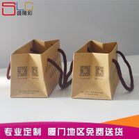 现货牛皮纸袋手提袋 养生餐手提袋  快递外卖送餐袋 可定制LOGO