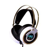 头戴式网吧专用发光游戏USB耳机 重低音带麦克风触摸式震动耳机