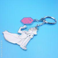 创意白雪公主钥匙扣 卡通金属挂件 电影宣传礼品赠品