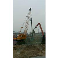安徽钢板桩租赁公司.三一打桩机打拔拉森钢板桩水泥方桩钢管桩/污水池围堰打拔钢板桩