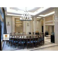 千嘉电动餐桌、豪华酒店宴会桌、新中式电动餐桌、新中式家具