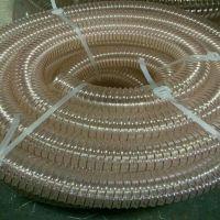 塑胶PU钢丝管橡胶伸缩管风机软连接管道厂家排烟软管风机连接
