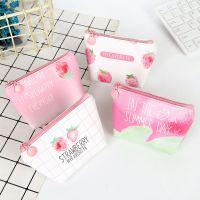拉链迷你零钱包创意收纳钥匙包草莓可爱学生短款PU小钱包促销赠品