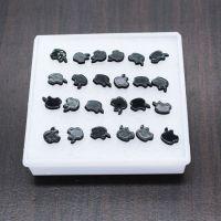 盒装耳钉 韩国简约 黑色板材 防过敏塑料耳针 盒装饰品厂家直销