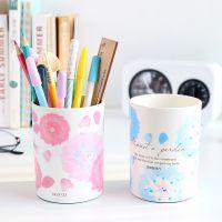 得力办公文具 糖果色花朵圆形笔筒 桌面收纳 学习用品9122