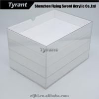 深圳 厂家特供透明亚克力文具收纳盒 抽屉式亚加力有机玻璃收纳盒