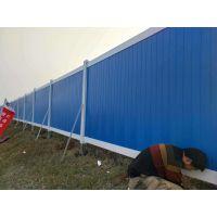 工程PVC围挡 道路施工临时隔离围墙护栏 彩钢板围挡