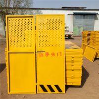 厂家直销施工升降电梯安全防护门建筑楼层防护隔离门人货电梯门