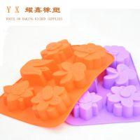 6连各种花硅胶手工皂模 硅胶蛋糕模 蛋糕工具diy silicone制品