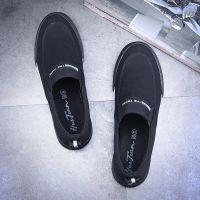 回天夏季透气2018鞋子韩版潮帆布鞋男士休闲鞋一脚蹬懒人鞋8527