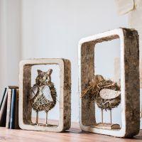 可定做白桦木装饰框墙面组合整理书架几何隔板收纳创意美式乡村