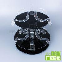 透明塑料展示架 旋转亚克力台卡 有机玻璃旋转展示架 首饰台架