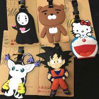 旅游用品~七龙珠 无脸男 猫咪卡通造型PVC软胶行李牌挂件 外贸款