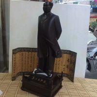 黑檀木木质工艺品木头雕刻毛泽东伟人雕像实木红木木制励志小摆件